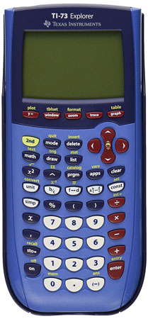 2. Texas Instruments TI-73 Graphing Calculator.