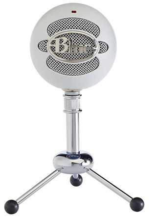 3. Blue Snowball USB Microphone (Textured White)