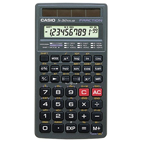 8. Casio FX- 260 SOLAR scientific calculators, black