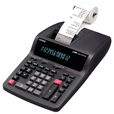 6. Casio DR-210TM Printing Calculator