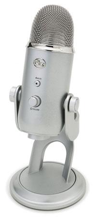 6. Blue Yeti USB Microphone - Silver