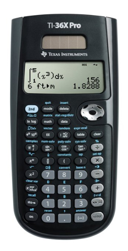 5. Texas Instruments TI36X Pro engineering/ scientific calculator