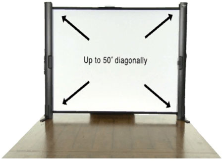 6. Epson ES1000 Ultra Portable Tabletop Projection Screen