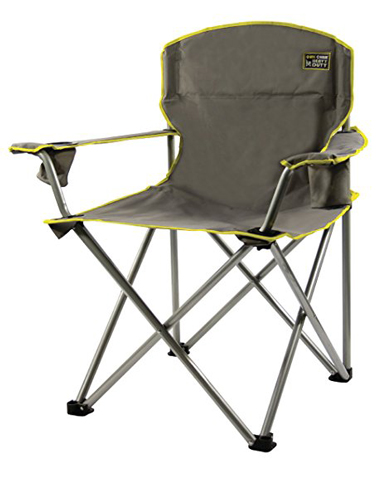 9. Quick Chair Heavy Duty Folding Camp Chair, Grey