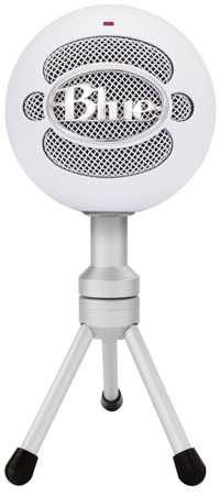 2. Blue Snowball iCE Condenser Microphone, Cardioid - White