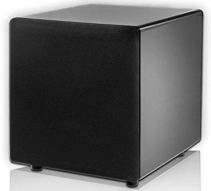 2. OSD Audio PS88 Dual 8-inch Compact Woofer Home Theatre Subwoofer, Gloss Black