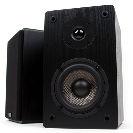 10. Micca MB42 Bookshelf Speakers With 4-Inch Carbon Fiber Woofer and Silk Dome Tweeter (Black, Pair)