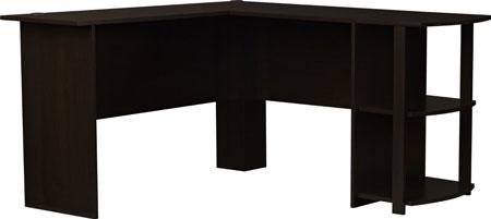 7. Altra Dakota L-Shaped Desk with Bookshelves, Dark Russet Cherry