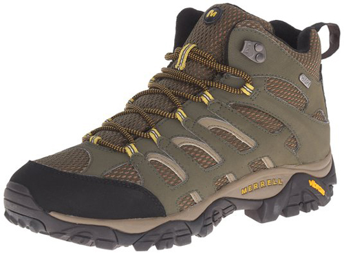 3. Merrell Men's Moab Mid Waterproof Hiking Boot.