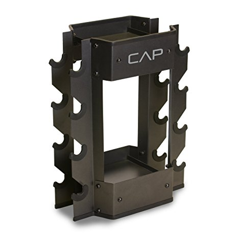 9. Cap Barbell Dumbbell and Kettlebell Storage Rack