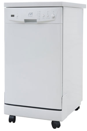 6. SPT SD-9241W Energy Star Portable Dishwasher, 18-Inch