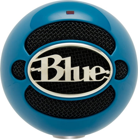8. Blue Snowball USB Microphone (Electric Blue)