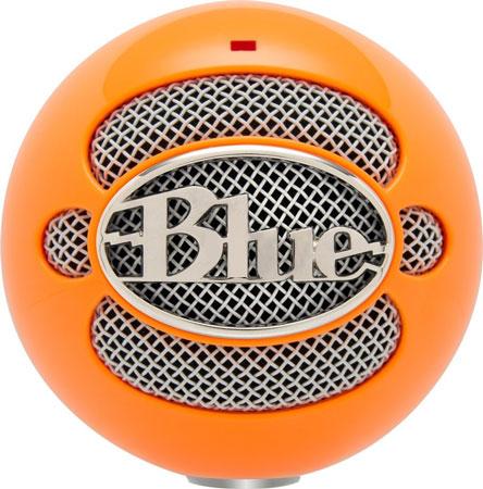 9. Blue Snowball USB Microphone (Bright Orange)
