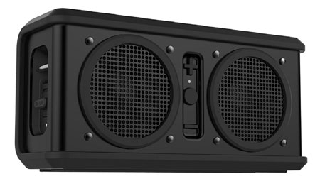 8. Skullcandy Air Raid Water-resistant Drop Proof Bluetooth Portable Speaker, Black