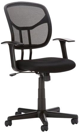 7. AmazonBasics Mid–Back Mesh Chair