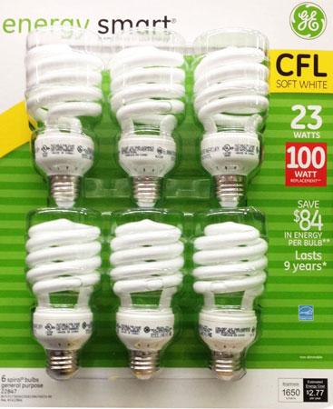 3. GE 23 Watt Energy Smart CFL - 100 Watt Replacement