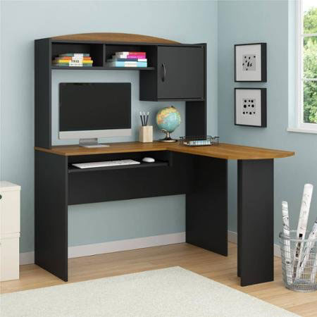 4. Computer Desk Corner L-shaped Ergonomic Study Table Hutch Home Office