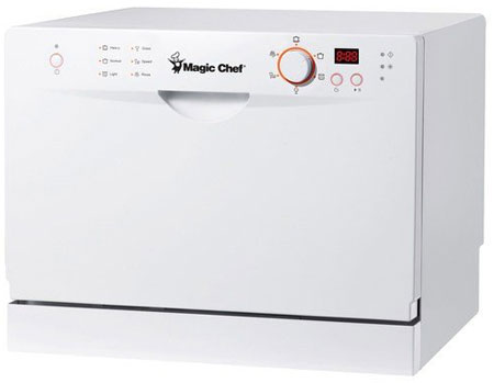 3. Magic Chef MCSCD6W3 6 Place Setting Countertop Dishwasher