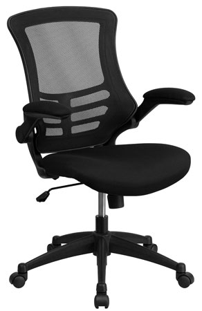 4. Mid-back Mesh Swivel Task chair with Padded Seat and Flip – Up Arms