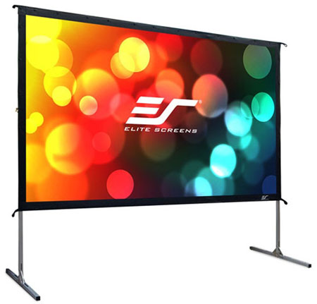 9. Elite Screens Yard Master 2, 100-inch 16:9, Foldable Outdoor Front Projection Movie Projector Screen