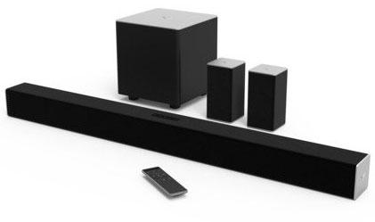 10. VIZIO SB3851-C0 38-Inch 5.1 Channel Sound Bar with Wireless Subwoofer and Satellite Speakers (2015 Model)
