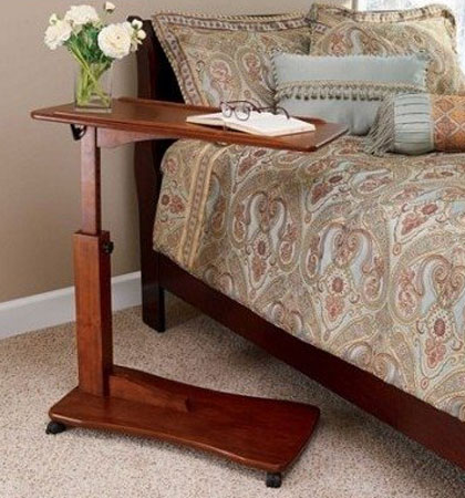 5. Wooden Bedside Eating Reading Study Table