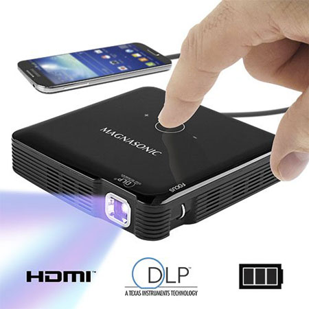 6. Magnasonic PP71 Mini Portable Pico Video Projector with HDMI
