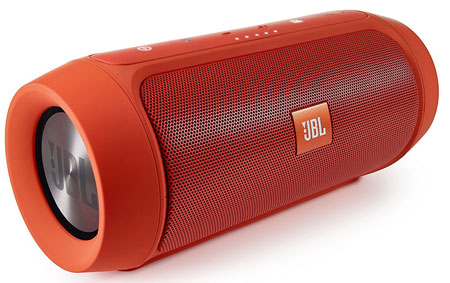 7. JBL Charge 2+ Splashproof Portable Bluetooth Speaker (Orange)