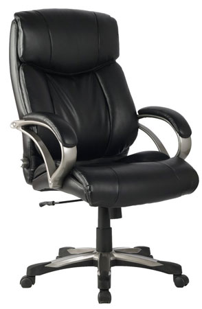 5. Leather Chair w/ Adjustable Lumbar Support