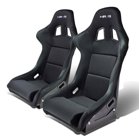 8. NRG FRP-310 Pair of Fiber Glass Bucket Style Racing Seat