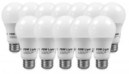 9. New 60 Watt Equivalent SlimStyle A19 LED Light Bulb Soft White 2700K 12 Pack