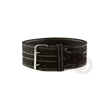10. Serious Steel Fitness Leather Weight Lifting Belt