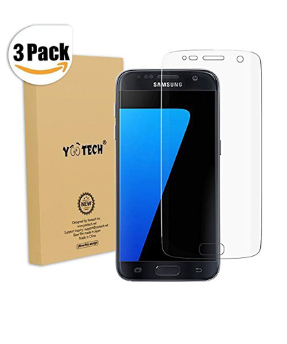 18. Yootech Curved Edge to Edge Screen Protector for Samsung Galaxy S7