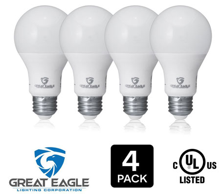 1. Great Eagle 100W Equivalent LED Light Bulb