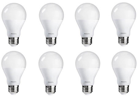 7. Philips 461228 60 Watt Equivalent Soft White Dimmable A19 LED Light Bulb