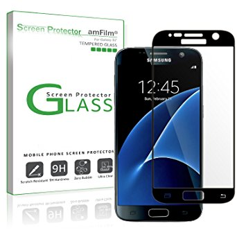 17. amFilm Bye-Bye-Bubble Samsung Galaxy S7 Tempered Glass Screen Protector