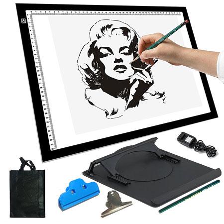 7. A4 3.6w 12v LED Artist Stencil Board Tattoo Drawing Light Box Tracing Table Display Light Box
