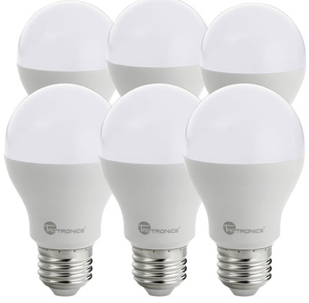 2. TaoTronics LED Light Bulbs 60 Watt Equivalent