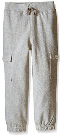 8. Burt's Bees Kids Boys' French Terry Cargo Pant
