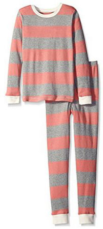 2. Burt's Bees Kids Girls' Plaid Organic PJ Set
