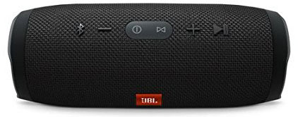 2. JBL Charge 3 JBLCHARGE3BLKAM Waterproof Portable Bluetooth Speaker (Black)