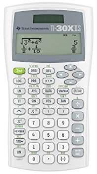 9. Texas Instruments TI30XIIWHITE 2- line scientific calculator