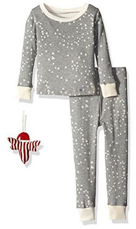 6. Burt's Bees Organic 2-Piece Pajama Set with Ornament