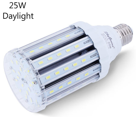 7. 25W Daylight LED Corn Light Bulb for Indoor Outdoor Large Area