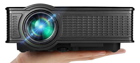 1. Portable Mini HD Projector 1080p, 1500 Lumens LED Video Projector