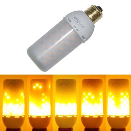 8. JUNOLUX LED Burning Light Flicker Flame Light Bulb Fire Effect Bulb