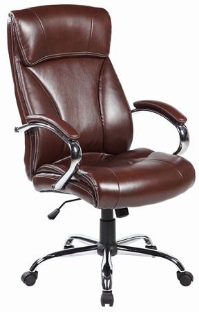 1. Ergonomic Highback Leather Executive Office Desk Chair
