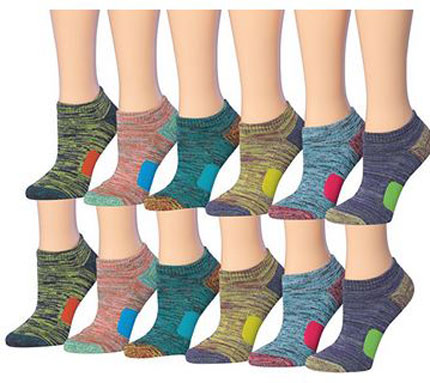 4. Tipi Toe Women's 12-Pairs Low Cut Athletic Sport Performance Socks