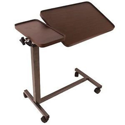 3. Eva Medical Deluxe Tiltable Overbed Table