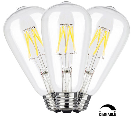 4. CRLight 6W Dimmable Edison Style Vintage LED Filament Light Bulb